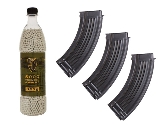 AK High Cap Mags & 0.25g BBs Combo Package
