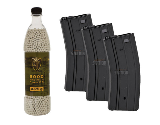 M4 High Cap Mags & 0.25g BBs Combo Package