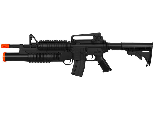 Double Eagle M4 AEG with Underbarrel Tri-Shot Launcher