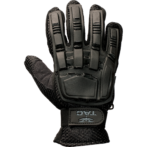 V-Tac Full Finger Plastic Back Airsoft Gloves, Black