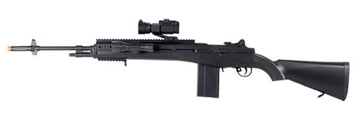 AGM M14 Airsoft Sniper Rifle with RIS, Flashlight, and Red Dot Sight, 400 FPS