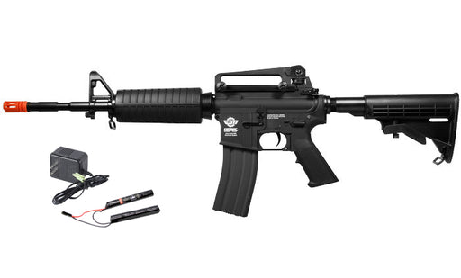 G&G Combat Machine CM16 Carbine M4 Airsoft Rifle w/ 9.6v Battery & Charger