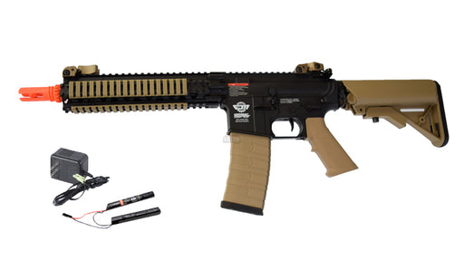 G&G CM18 MOD1 Airsoft Rifle AEG w/ 9.6v Battery & Charger, Black