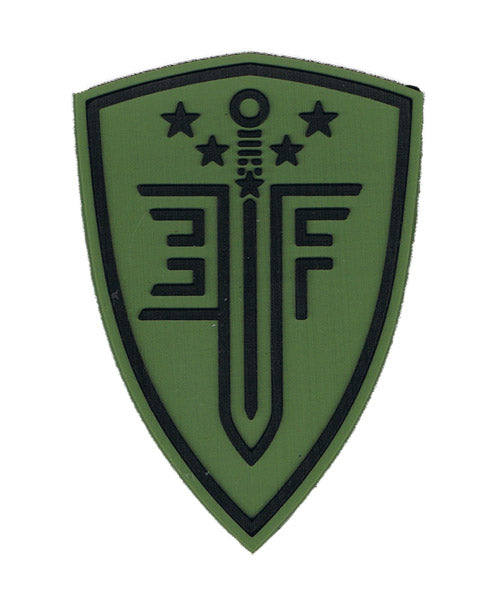 Elite Force Shield PVC Velcro Patch, OD Green