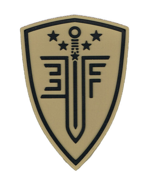 Elite Force Shield PVC Velcro Patch, Tan