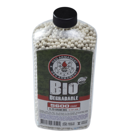 G&G Perfect BBs, 0.20g, 5600 ct. Bottle, White, Biodegradable