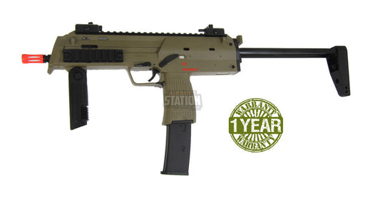 H&K MP7A1 Gas Blowback Airsoft Gun by KWA, Dark Earth/Tan