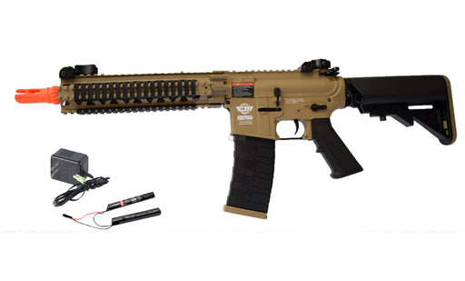 G&G CM18 MOD1 Airsoft Rifle AEG w/ 9.6v Battery & Charger, Tan