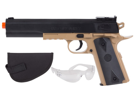 Colt 1911 Spring Pistol Kit w/Holster and Safety Glasses, Black/Tan