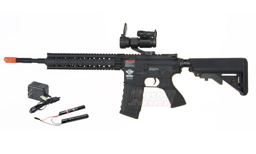 G&G CM16 R8-L AEG Airsoft Rifle w/ 9.6v Battery & Charger, Black