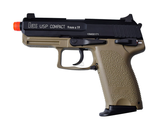H&K USP Compact Tactical Gas Blowback Airsoft Pistol, Full Metal by KWA