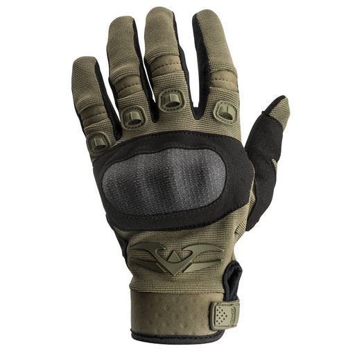 Valken Zulu Tactical Hard Knuckled Gloves, OD Green