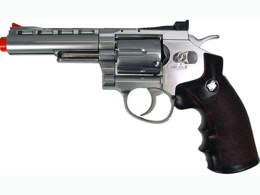 "WG CO2 Full Metal Airsoft Revolver, 4"" Chrome"