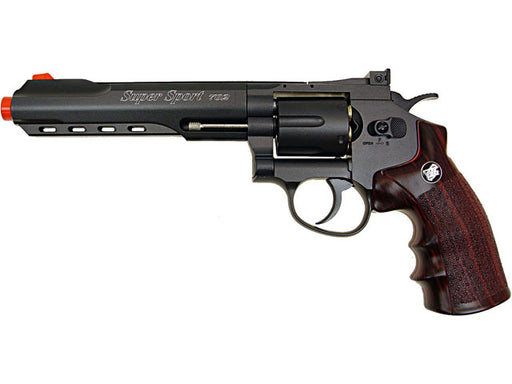 "WG CO2 Full Metal Airsoft Revolver, 6"" Black"