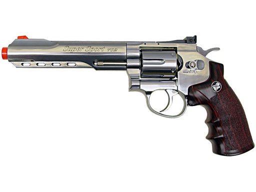"WG CO2 Full Metal Airsoft Revolver, 6"" Chrome"