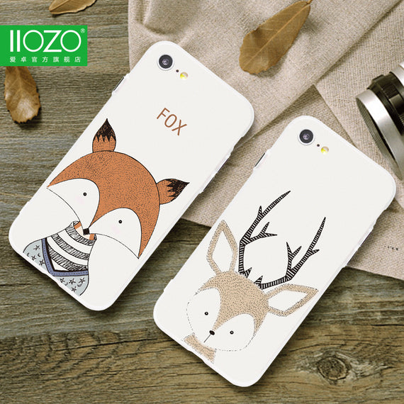 Lovely Deer Cartoon Hard iPhone Case - My iPhone Store