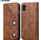 Leather Case with Cover for iPhone X - My iPhone Store