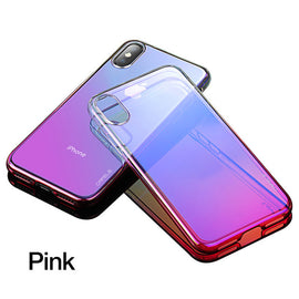 Luxury Gradient Color Transparent iPhone Hard Case - For iPhone X - My iPhone Store