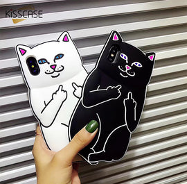 Cat Holding Finger Design iPhone Case - My iPhone Store