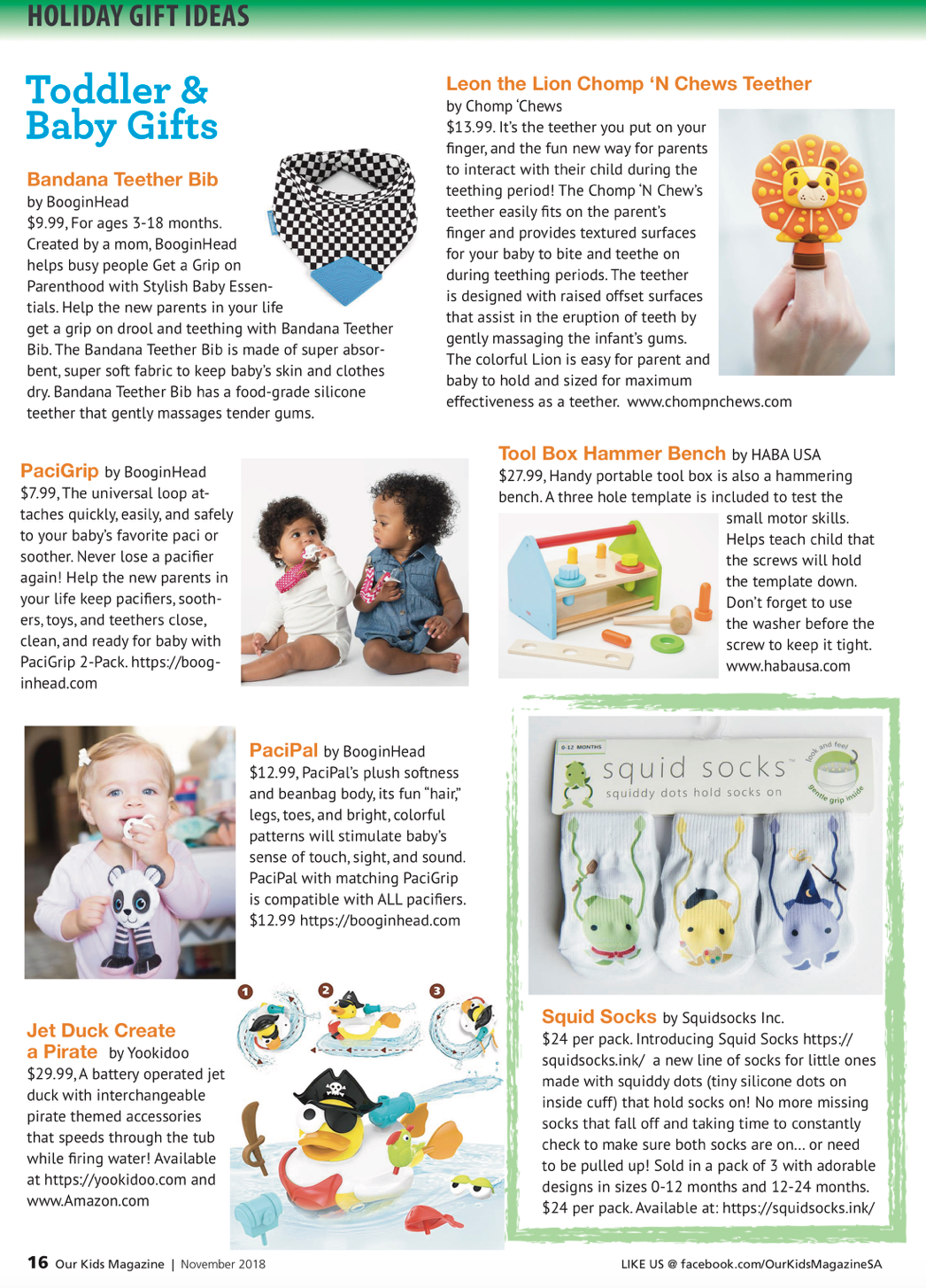 Our Kids San Antonio Magazine November 2018 Holiday Gift Guide pg16