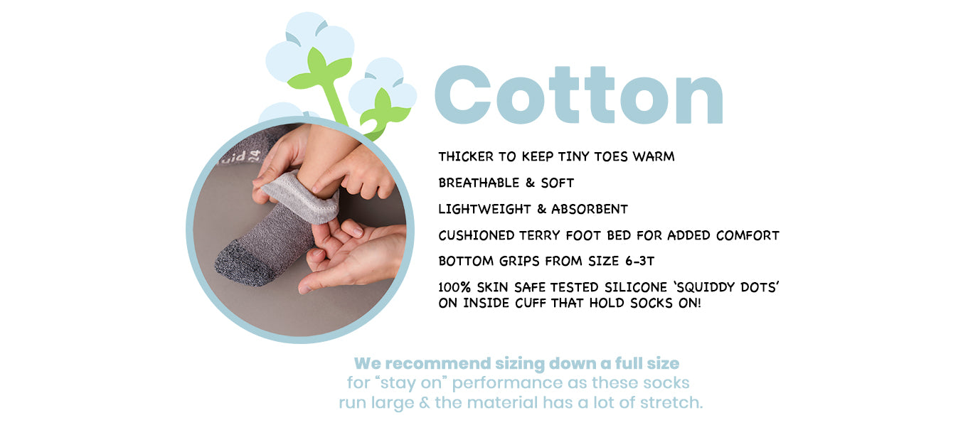 Squid Socks: Cotton Baby and Toddler Socks
