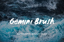 Load image into Gallery viewer, Gemini brush font