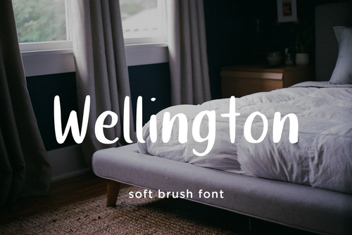 Wellington brush font