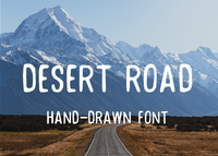 Desert road hand-drawn font