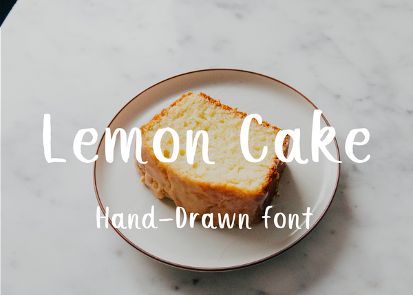 Lemon cake brush font