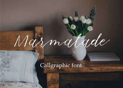 Marmalade calligraphic font