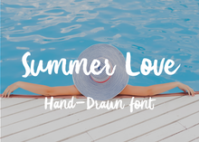 Load image into Gallery viewer, Summer love brush font