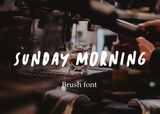 Sunday morning brush font