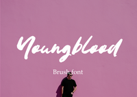 Youngblood brush font