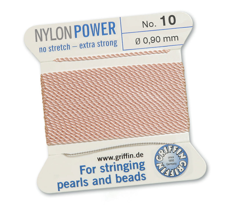 Rose Gold Blush Pink No.10 0.9mm Nylon Power