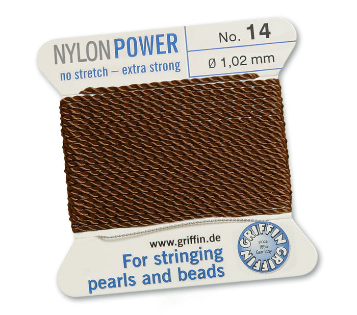 Chocolate Brown No.14 1.02mm Nylon Knotting Cord