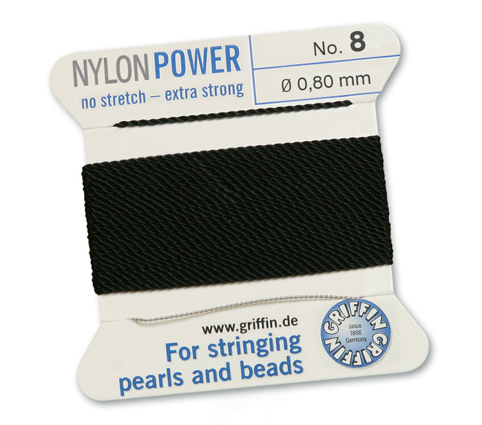 Black No.8 0.8mm Nylon Knotting Cord
