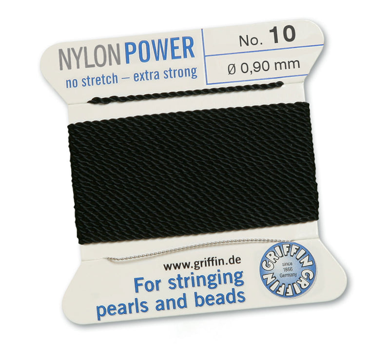 Black No.10 0.9mm Nylon Knotting Cord