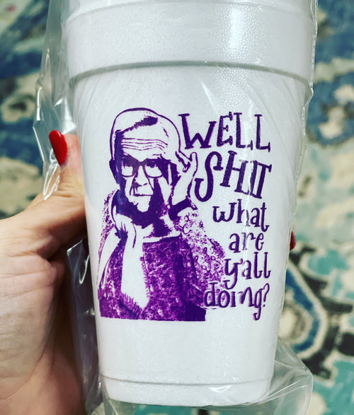 Leslie Syrofoam Cups (well,shit)