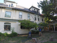 True Blue Crew safely cleans gutters from the ground.