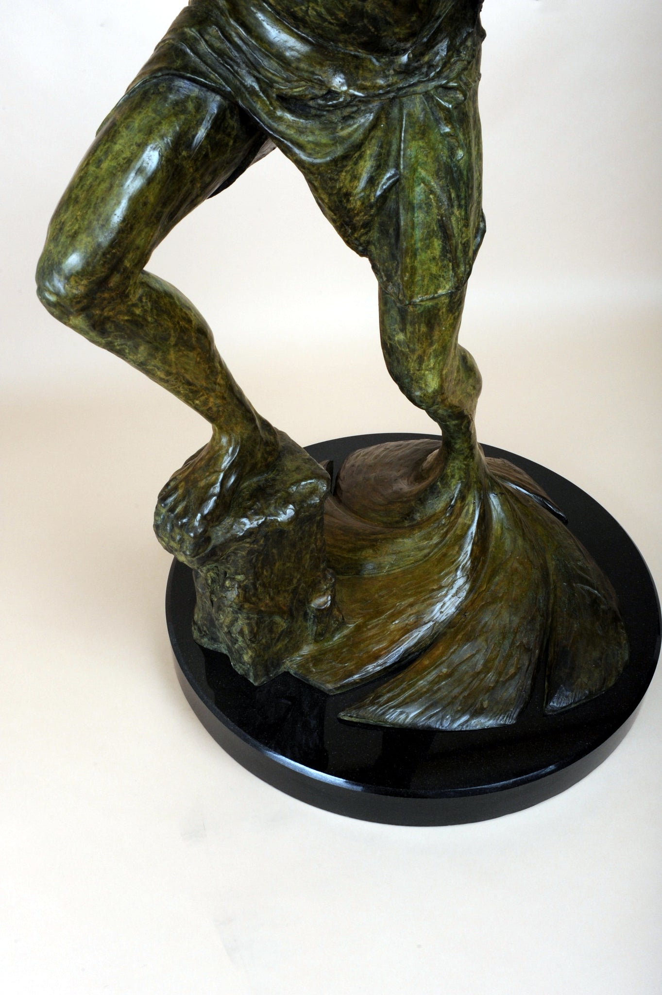 mans office decor bronze sculpture masculine design office
