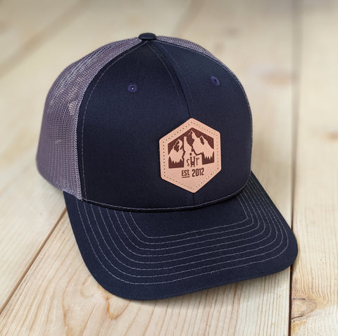 SHP Leather Patch Trucker Hat