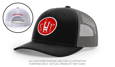 Black and White SHP Trucker Hat