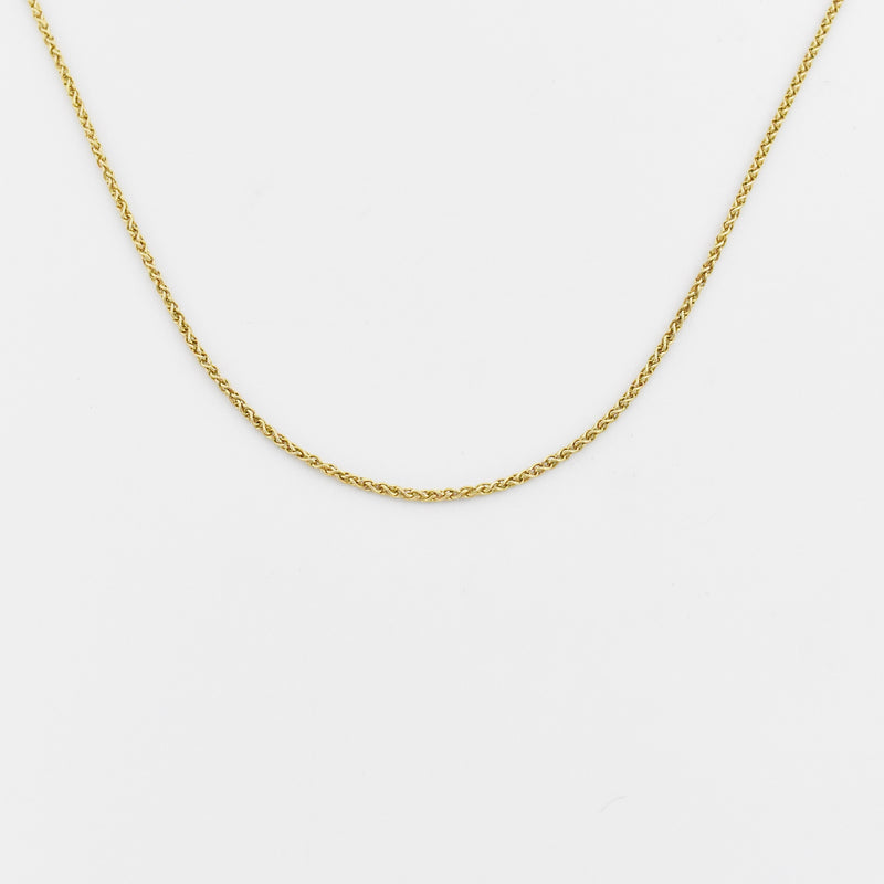 "14k Yellow Gold Estate 20 1/4"" Rope Link Chain/Necklace"