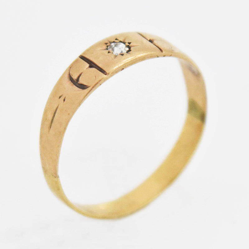 10k Rose Gold Antique Diamond Child/Baby Ring Size 3.5