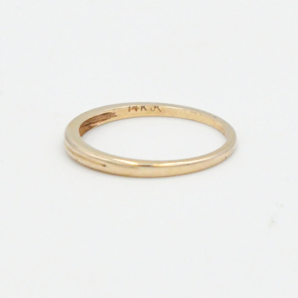 14k Yellow Gold Estate Wedding Band/Ring Size 6.5