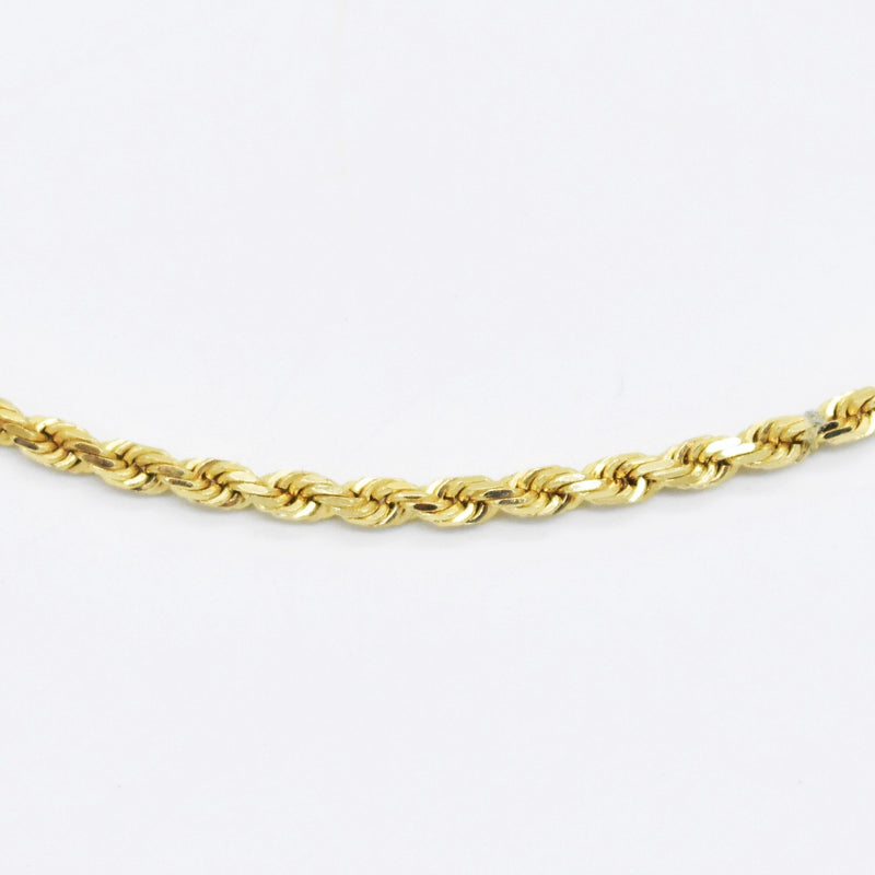 "14k Yellow Gold Estate 18"" Rope Style Chain/Necklace"