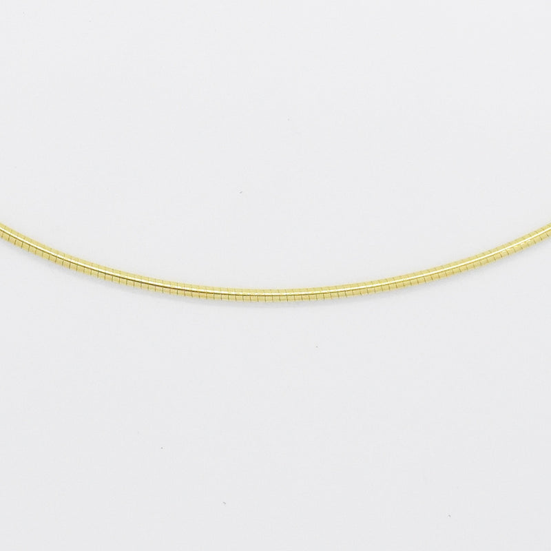 "14k Yellow Gold Estate 17"" Snake Link Choker Necklace"