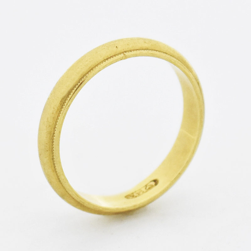 14k Yellow Gold Vintage Wedding Band/Ring Size 8.75