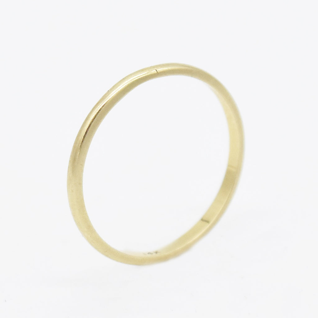 14k Yellow Gold Vintage Wedding Band/Ring Size 9