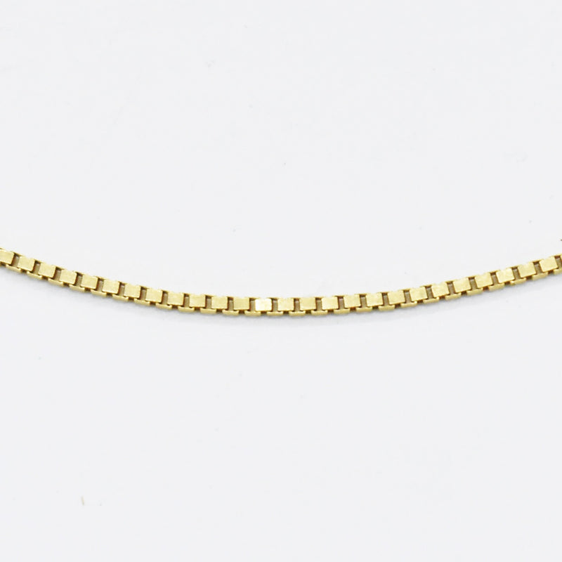 "14k Yellow Gold Estate 18"" Box Link Chain/Necklace"